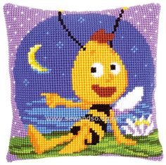 Buy Willy at Night Cushion Front Chunky Cross Stitch Kit Online at www.sewandso.co.uk
