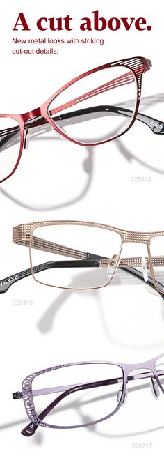 Add subtle flair to your Zenni collection with metal cut-out frames.