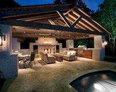 Patio Lighting Ideas Gallery Outdoor Patio Lighting – Make A Plan Patio Lighting Ideas Gallery. Outdoor Patio Lighting can help to transform your house at night and create a more functional p… Outside Living, Outdoor Living Areas, Outdoor Rooms, Outdoor Decor, Living Spaces, Outdoor Pool Areas, Outdoor Dining, Outdoor Kitchen Design, Patio Design