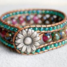 Bracelets for Women – Fine Sea Glass Jewelry Leather Cuffs, Leather Jewelry, Leather Cord, Diy Jewelry Rings, Beaded Jewelry, Jewelry Ideas, Jewelry Necklaces, Jewelry Making, Bracelet Cuir