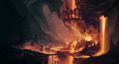 Underdark temple magma lava