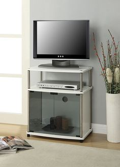 TV Stand Console Media Entertainment Center Storage Furniture Wood Cabinet Home #ConvenienceConcepts #Modern