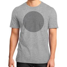 Circle with kinetic art District T-Shirt (on man)