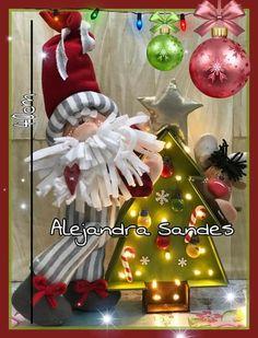 Papá noel Mary Christmas, Christmas Clay, Christmas Themes, Christmas Bulbs, Christmas Decorations, Holiday Decor, Xmas Tree, Christmas Stockings, Christmas Crafts
