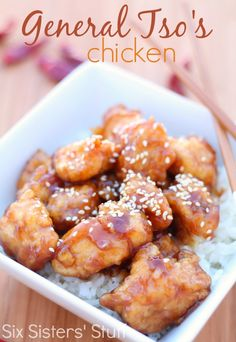 Homemade General Tso's Chicken Recipe from SixSistersStuff.com.  No need to grab takeout with this restaurant worthy dish! #sixsistersstuff #chicken #recipes