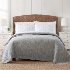 The Grainhouse™ Washed Microfiber Comforter Sets - Christmas Tree Shops and That! - Home Decor, Furniture & Gifts Store Gift Store, Coastal Living, Comforter Sets, Dorm Room, Comforters, Rest, Christmas Tree, Blanket, Palm