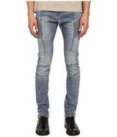 8248dc97c6b5ef Pierre balmain faded biker jeans