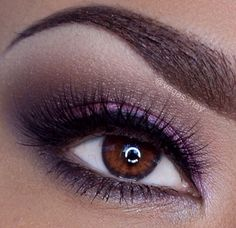 Pretty purple smokey eye makeup