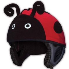 Amazon.com: Mental Lady Bug Helmet Cover in Red: Sports & Outdoors