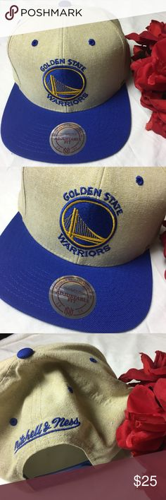 NWT Mitchell & Ness golden state warriors SnapBack New with tags never worn Mitchell & Ness Accessories Hats