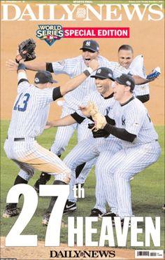 2009 Yankees winning world series newspaper