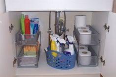 Diy Bathroom Organization Under Sink Cleaning Supplies 30 Super Ideas Under Sink Organization, Bathroom Cabinet Organization, Sink Organizer, Bathroom Storage, Organization Hacks, Organized Bathroom, Kitchen Organizers, Cabinet Organizers, Storage Organizers