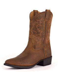Ariat Kid's Heritage Western Boot - Distressed Brown