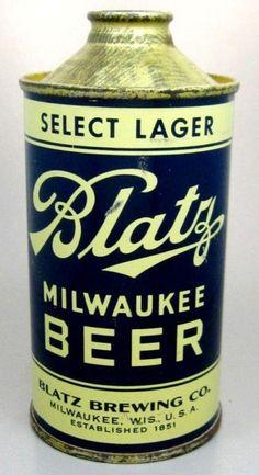 Blatz Cone Top beer container 1950's.
