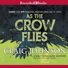 I love this series. Embarking on his eighth adventure in As the Crow Flies, Sheriff Longmire is searching the Cheyenne Reservation for a site to host his daughter's wedding, when he sees a woman fall to her death.  As the Crow Flies: A Walt Longmire Mystery, Book 8 | [Craig Johnson] #Audible
