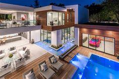 16033 Valley Vista Blvd, Encino, CA 91436 featured on modciti Dream Home Design, Modern House Design, Modern Mansion, Modern Homes, Luxury Homes Dream Houses, Dream Homes, Dream Mansion, Dream House Exterior, House Goals