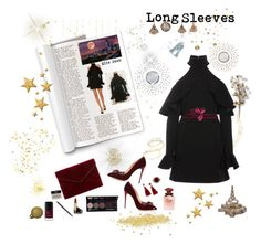 """""""Party on :  Long Sleeves dress"""" by deborah-518 ❤ liked on Polyvore featuring Elie Saab, Johanna Ortiz, Christian Louboutin, BaubleBar, Alexander McQueen, Rebecca Minkoff, Gucci, Dolce&Gabbana, Varaluz and Arteriors"""