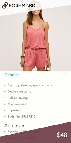 Anthropologie Red Terry Jumper by Saturday Sunday Anthropologie Saturday Sunday Red Terry Jumper. Size Large. This item is NWT. See photo #2 for description from the Anthropologie website regarding material, etc. No flaws or wear, as this is NWT. Anthropologie Pants Jumpsuits & Rompers