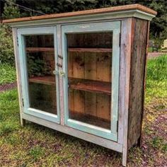 Farmhouse Salvage Window Cabinet , 43 W X 14 Deep X 39 Tall Handmade