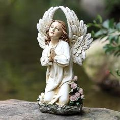 Kneeling Angel Garden Statue $49.00 by Wayfair