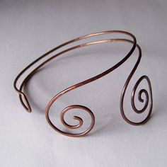 Armlet - Upper Arm Cuff - Hammered and Oxidized Copper Armband - WRAP AROUND  - Made to Order. $24,00, via Etsy.