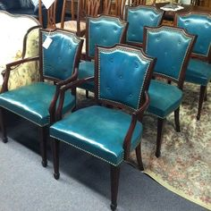 TDF! Set 6 Dining Room Chairs by Johnson Bros Furn Co -a STEAL at $166.67 per/chair (tag: the one that got away)