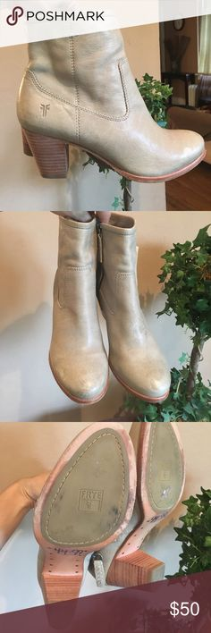 Frye boots Frye boots good condition small stain in the right boot one boots is marked 6 and the other 7 but does make any difference i never noticed until now that I'm selling them In a true 6 they fit perfect amazing boots Frye Shoes Ankle Boots & Booties