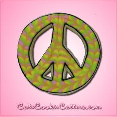Peace, love and cookies! You'll get into the spirit of the 60s in no time when you're baking with the help of the Peace Sign Cookie Cutter! This round peace sign cutter is constructed out of stainless