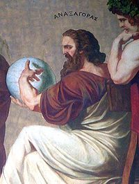 Anaxagoras  (510 – 428 BC) was a Pre-Socratic Greek philosopher and friend of Pericles.  He attempted to give a scientific account of astronomy, which provoked a charge of impiety.  He was forced to leave Athens and retired in Lampsacus.