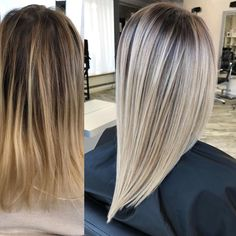 502 Likes, 5 Comments - МАСТЕРСКАЯ КОЛОРИСТИКИ NS ( - Social Media Collections Grey Balayage, Hair Color Balayage, Blond Hairs, Hair Color And Cut, Hair 2018, Great Hair, Hair Day, Hair Looks, Hair Trends