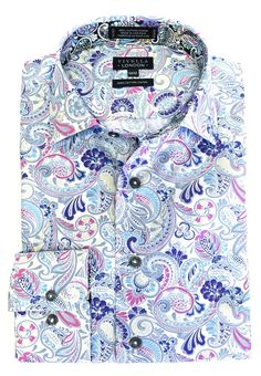Luxury apparel, travel accessories, perfumes and Sports Shirts, Men's Shirts, Formal Shirts For Men, Style Lounge, Trim Color, Stylish Men, Travel Accessories, Paisley, Menswear