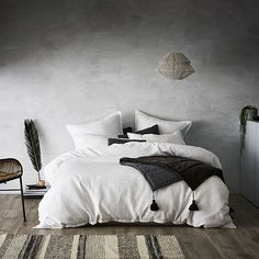 Sorrento Quilt Cover White | Pinned by PeachSkinSheets <3
