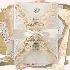 Invitations by Dawn offers exceptional stationery with a custom look for a fabulous price. Find save the dates, wedding invitations, bridal shower invitations and more. Ivory Wedding Invitations, Wedding Invitation Trends, Bridal Shower Invitations, Ribbon Wedding, Wedding Wraps, Wedding Dresses, Ideas, Bride Dresses, Bachelorette Invitations