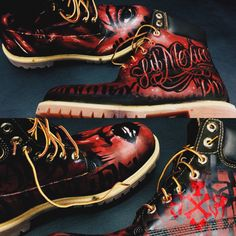 S I C 1 5 #customkicks #customtimberlands #timberlands #painted timberlands