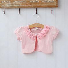 Summer 100% cotton silk flower female child all-match short-sleeve cape clothing baby cloak shrug cardigan $12.90