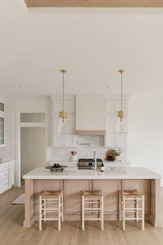 Home Decor Kitchen, Kitchen Interior, New Kitchen, Home Kitchens, Kitchen Dining, Dream Kitchens, Kitchen Ideas, Riverside House, Neutral Kitchen