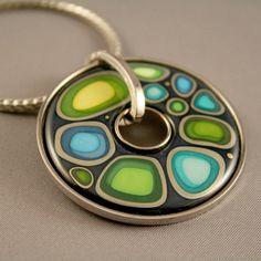 Authentic FREY WILLE Blue Passion Luna Piena Enamel Pendant Necklace New in Box