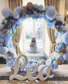 Pastel balloon garland is 😍 Baby Boy Decorations, Balloon Decorations, Birthday Party Decorations, Boy Baby Shower Themes, Baby Shower Balloons, Baby Boy Shower, Shower Party, Baby Shower Parties, Deco Ballon
