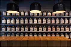 Tomás Tea House (México).  As embalagens acima são de chá! A numeração de cada embalagem diferencia o sabor de cada um dos blends!