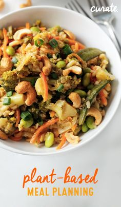 This guide to plant-based meal planning makes it easy to prep healthy, vegetarian meals for the week ahead in order to save time, energy, and calories. In addition to prepping meals, it's important to also plan healthy snacks filled with whole foods. For