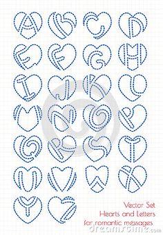 grupo-de-coraes-e-de-letras-do-alfabeto-71353928.jpg (313×450)