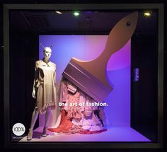 """BLOOMINGDALES, Lexington Avenue, New York, """"The Art of Fashion"""", photo by Retail Focus, pinned by Ton van der Veer"""