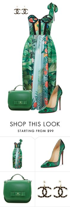 """""""Untitled #786"""" by angela-vitello on Polyvore featuring Rochas, Christian Louboutin and Chanel"""