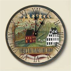 Amazon.com - No Place Like Home Country Rustic Wall Clock - Large Wall Clock Country