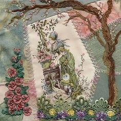 quilt block crazy quilt embroidery & embellish