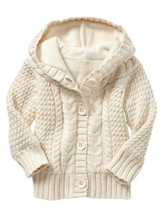Fleece-lined cable cardigan by Gap