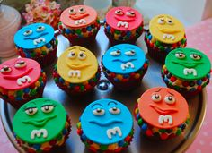 M&M Cupcakes candy sweets yummy cupcakes dessert treats m&m birthday cupcakes