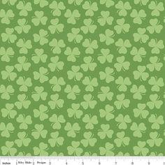 Clover Green  Riley Blake Designs  Saint by CuteLittleFabricShop