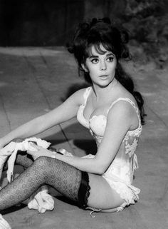 Deliciously attractive Natalie Wood in rehearsal on The Great Race, Warner Bros., 1964