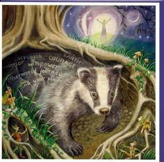 ✨badger✨ powerful medicine/ totem for root chakra